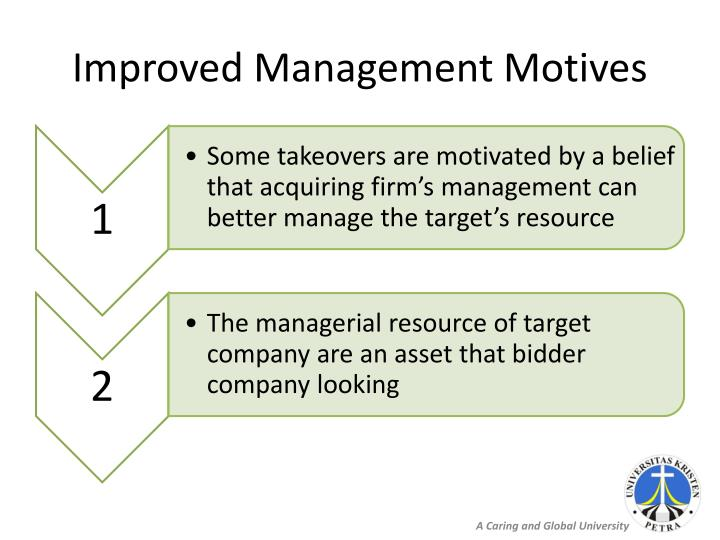 Improved Management Motives
