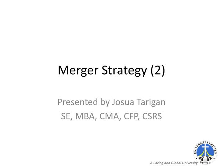 Merger strategy 2