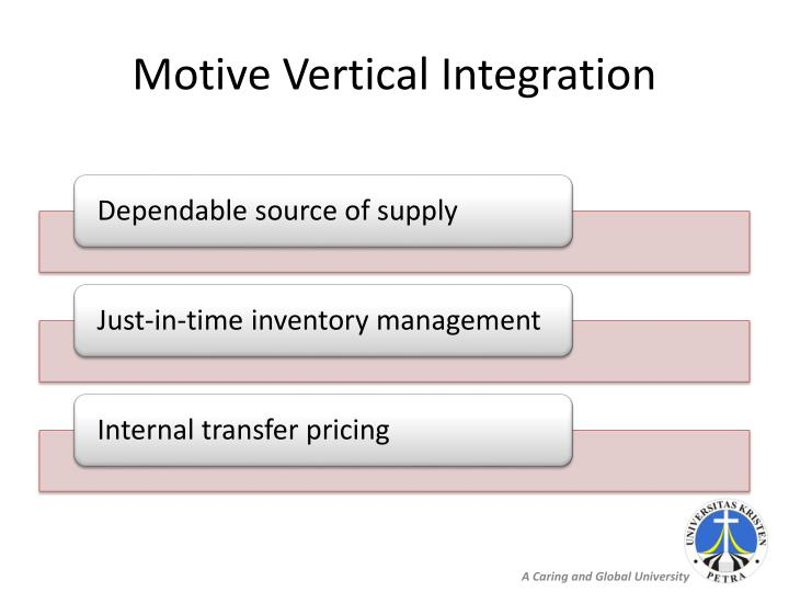 Motive Vertical Integration