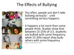 the effects of bullying