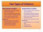 two types of violence