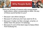 why p eople bully