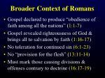 broader context of romans