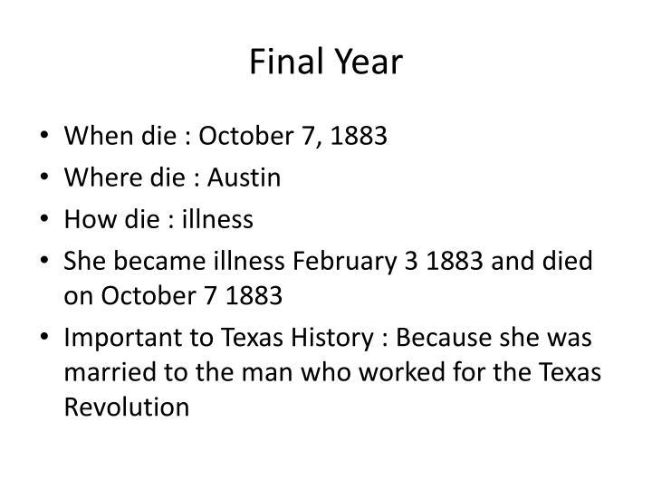Final Year