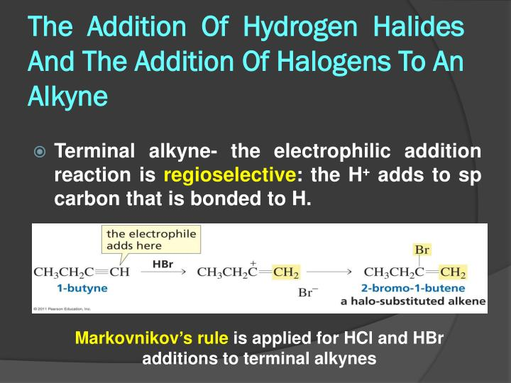 Ppt Ptt 102 Organic Chemistry Sem I 2012 2013 Alkyne