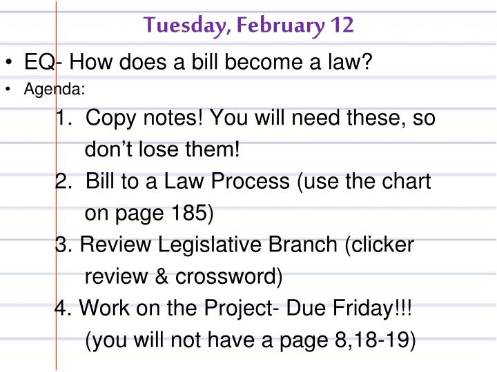 Tuesday, February 12