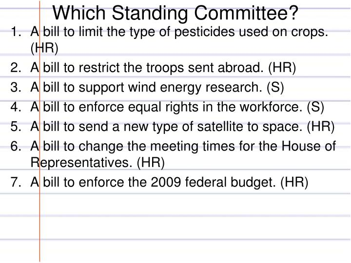 Which Standing Committee?
