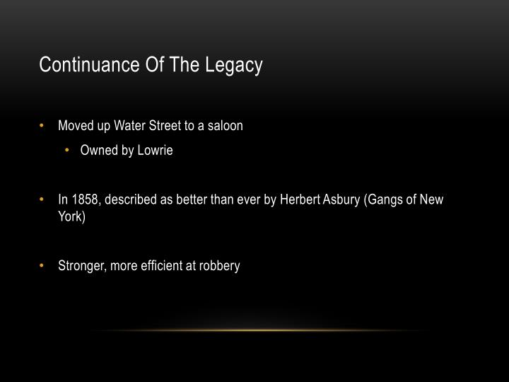 Continuance Of The Legacy