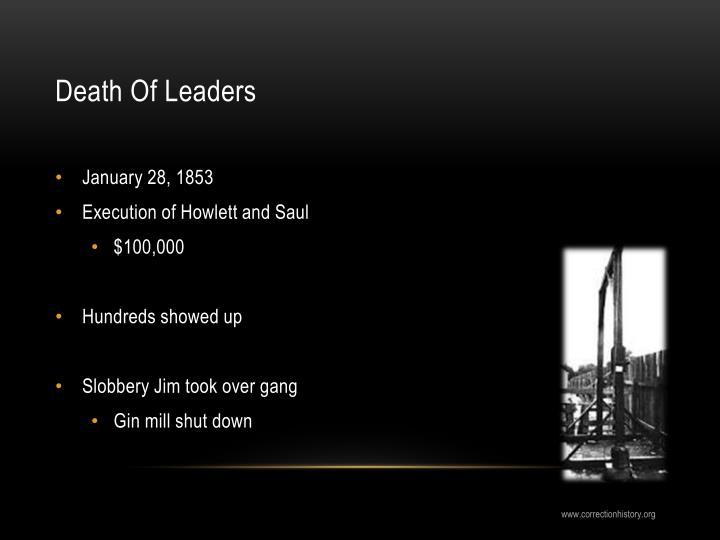 Death Of Leaders
