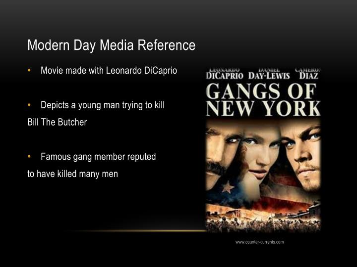 Modern Day Media Reference