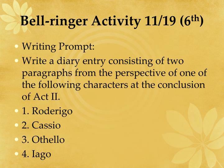 Bell-ringer Activity 11/19 (6