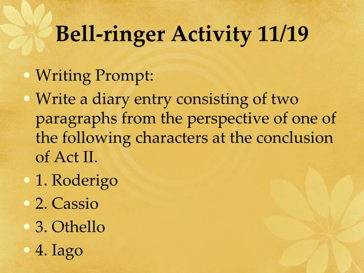 Bell-ringer Activity 11/19