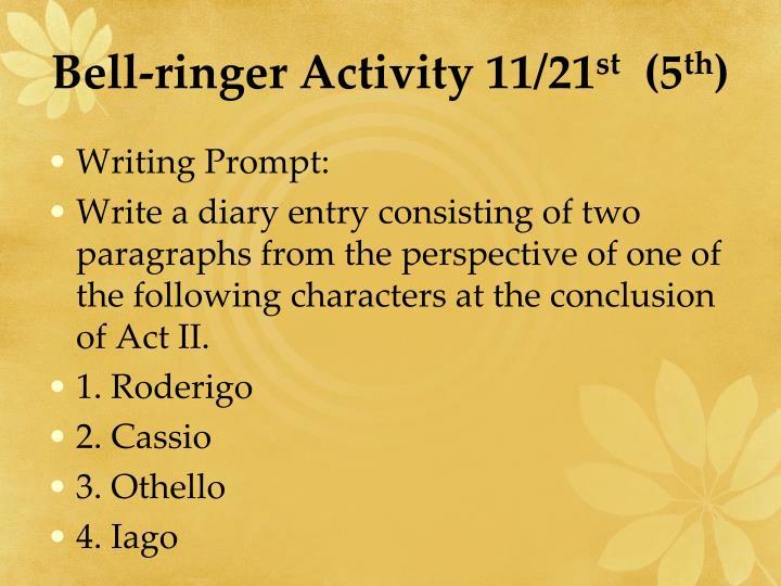Bell-ringer Activity 11/21