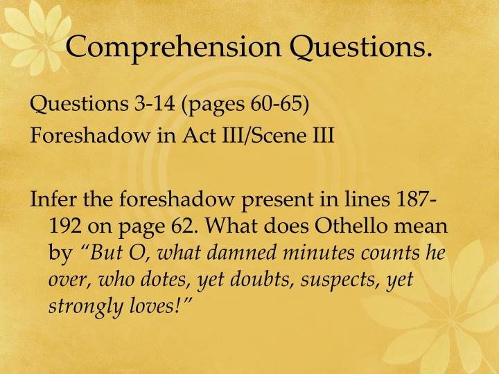 Comprehension Questions.