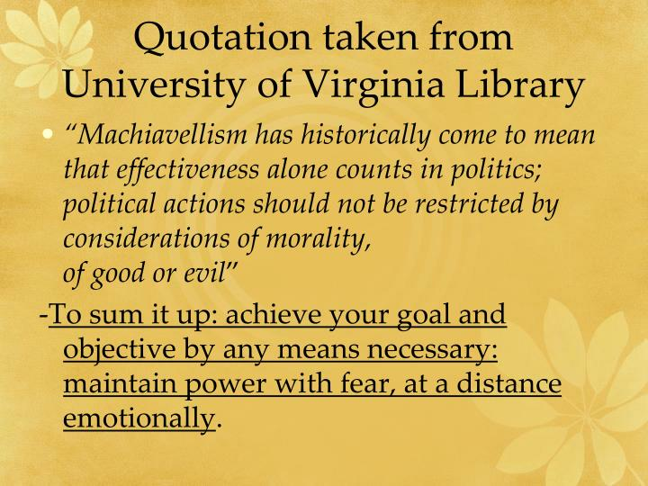 Quotation taken from University of Virginia Library