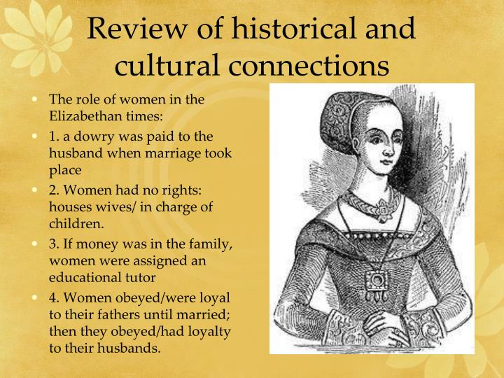 Review of historical and cultural connections