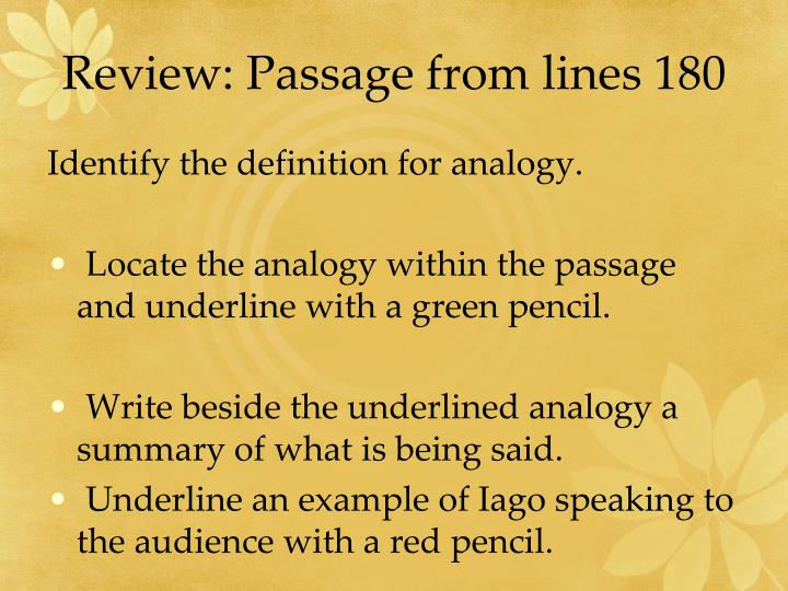 Review: Passage from lines 180