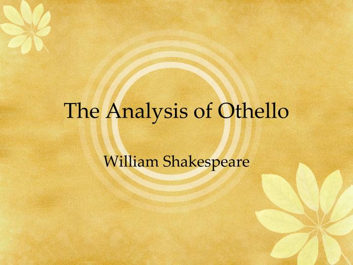 The analysis of othello