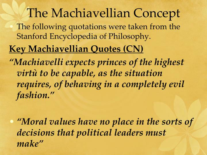 The Machiavellian Concept