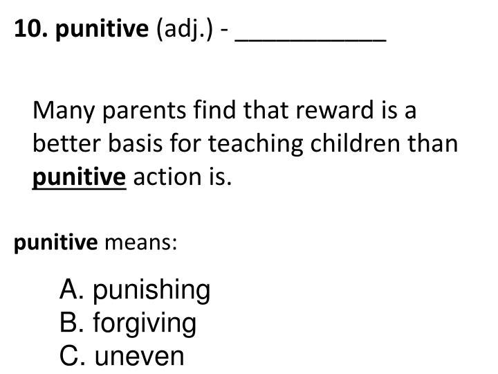 10. punitive