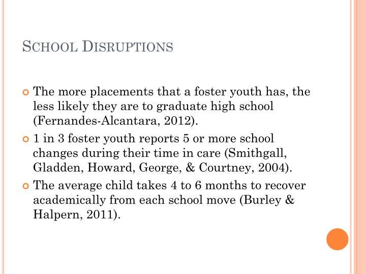 School Disruptions
