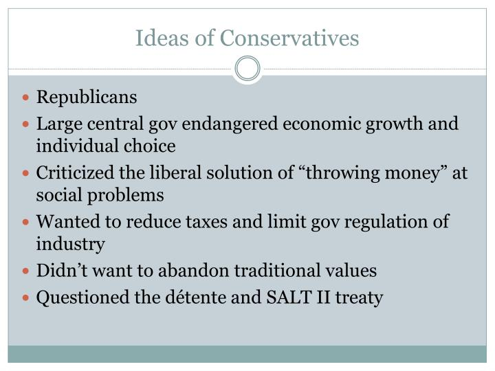Ideas of Conservatives