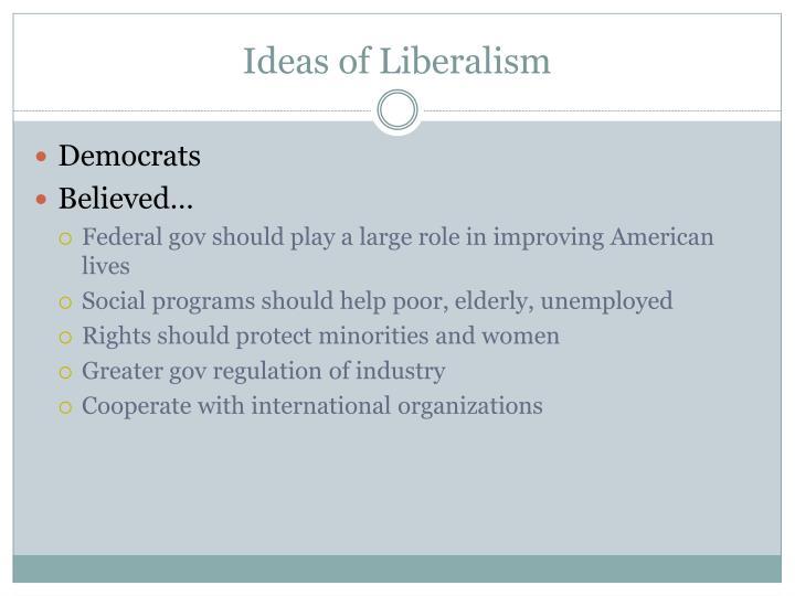 Ideas of Liberalism