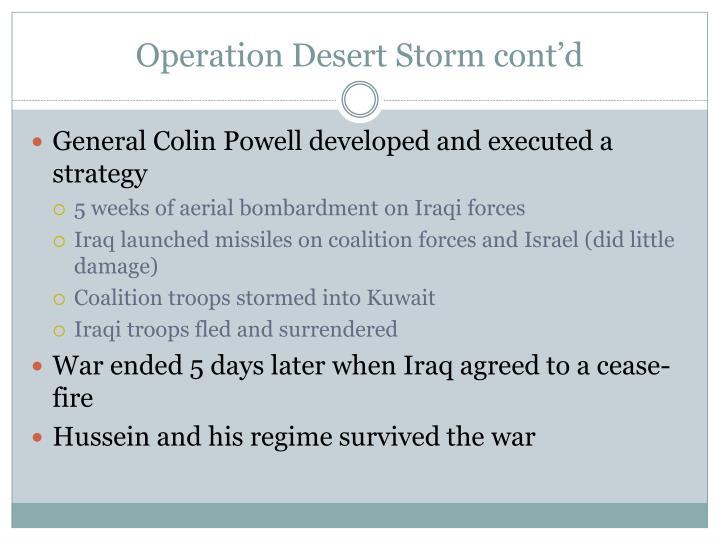 Operation Desert Storm cont'd