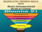 higher level thinking skills hots2