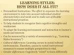 learning styles how does it all fit