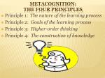 metacognition the four principles