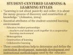 student centered learning learning styles
