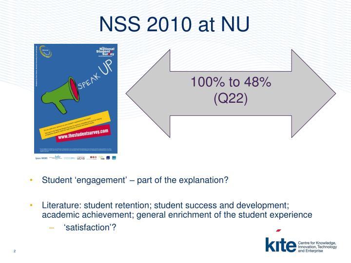 NSS 2010 at