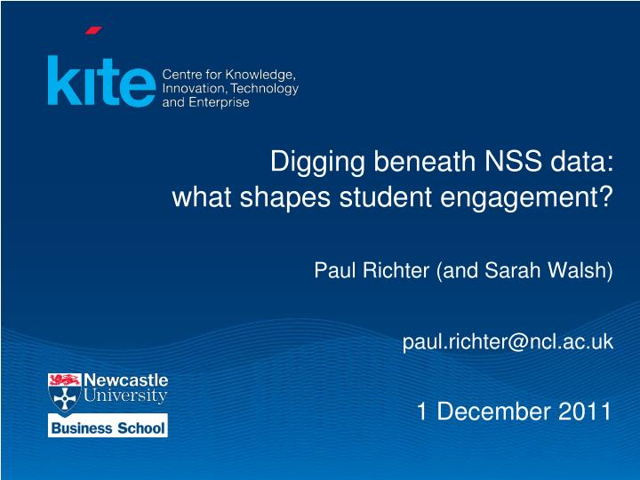 Digging beneath NSS data: