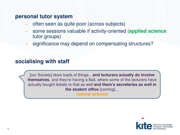 personal tutor system