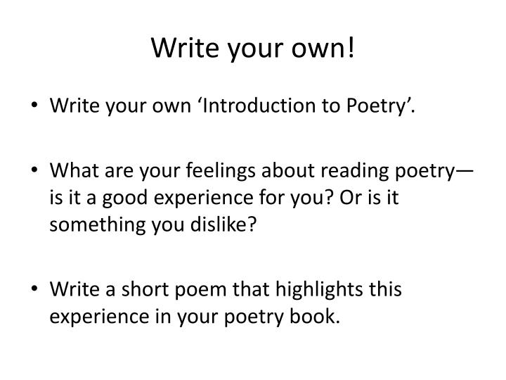 Write your own!