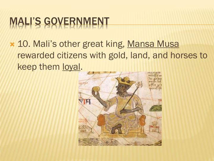 10. Mali's other great king,