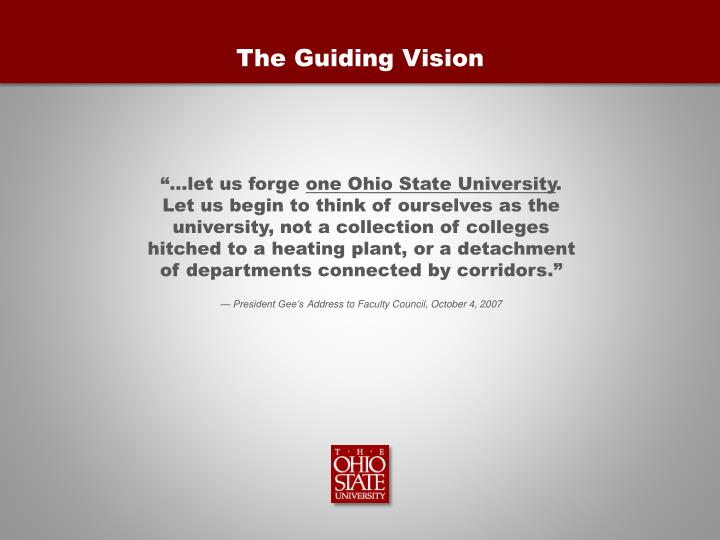 The Guiding Vision