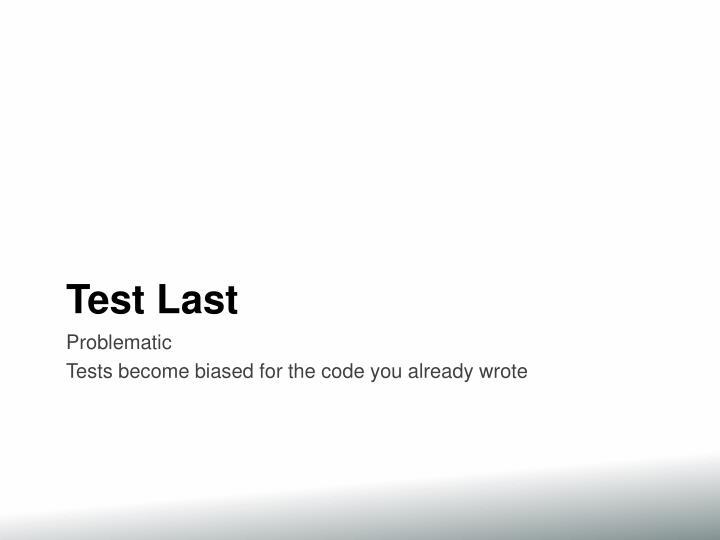 Test Last
