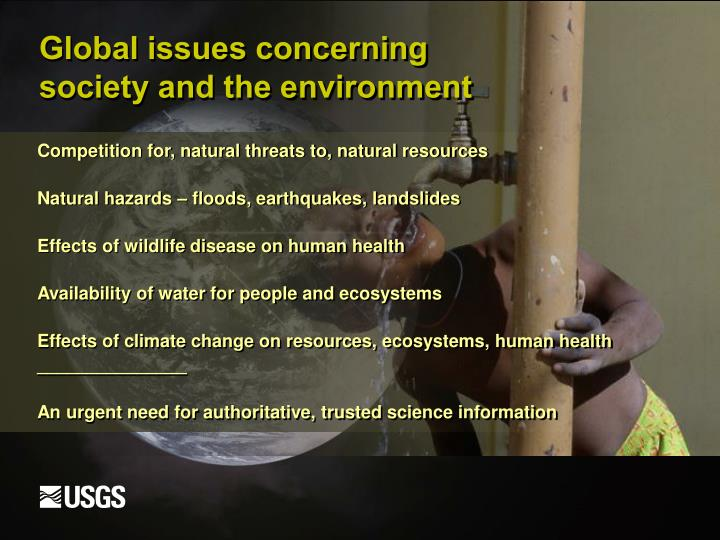 Global issues concerning