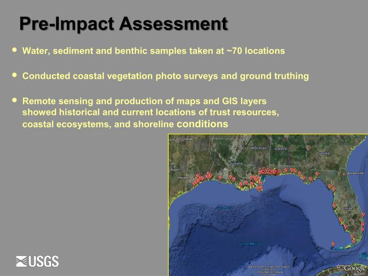 Pre-Impact Assessment