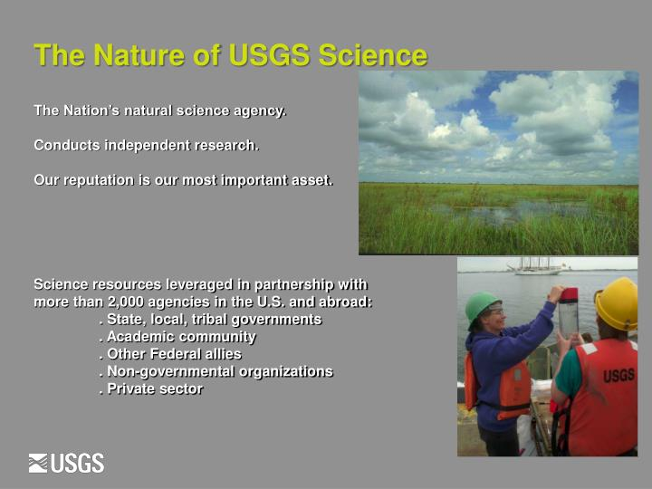 The Nature of USGS Science