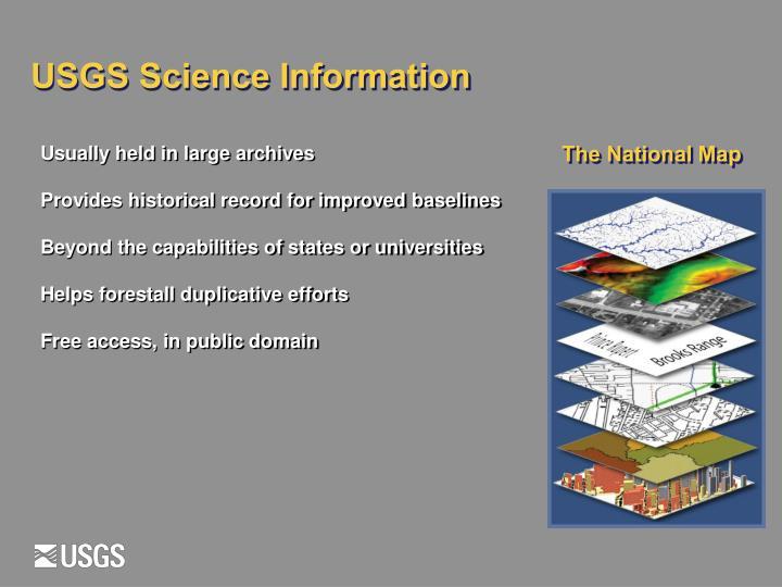 USGS Science Information