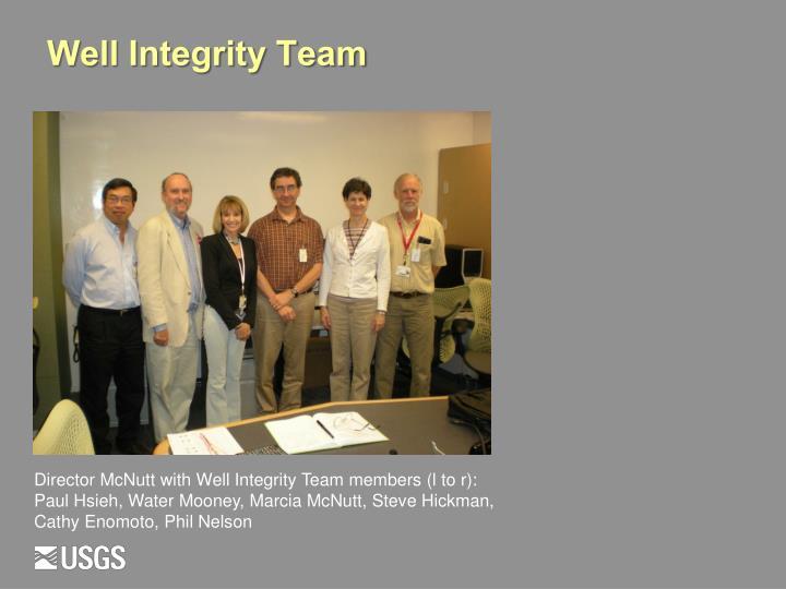 Well Integrity Team