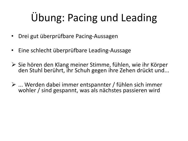 Übung: Pacing und Leading