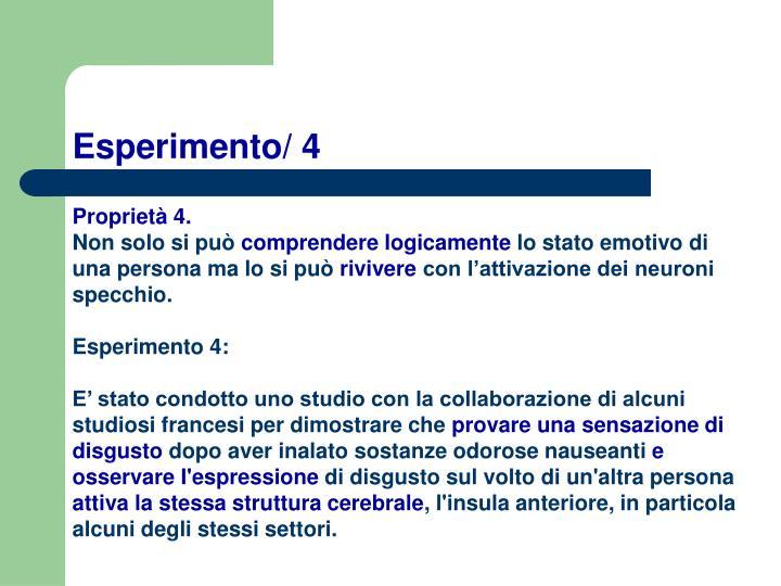 Esperimento/ 4