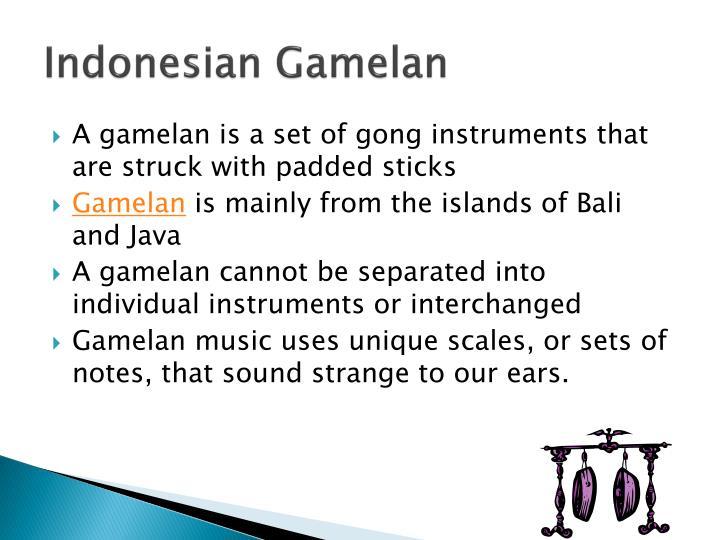 Indonesian Gamelan