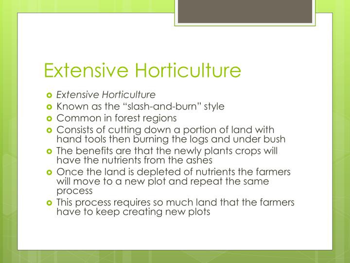 Extensive Horticulture