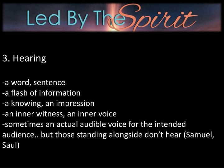 3. Hearing