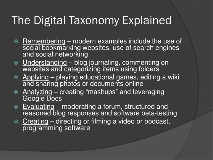 The Digital Taxonomy Explained